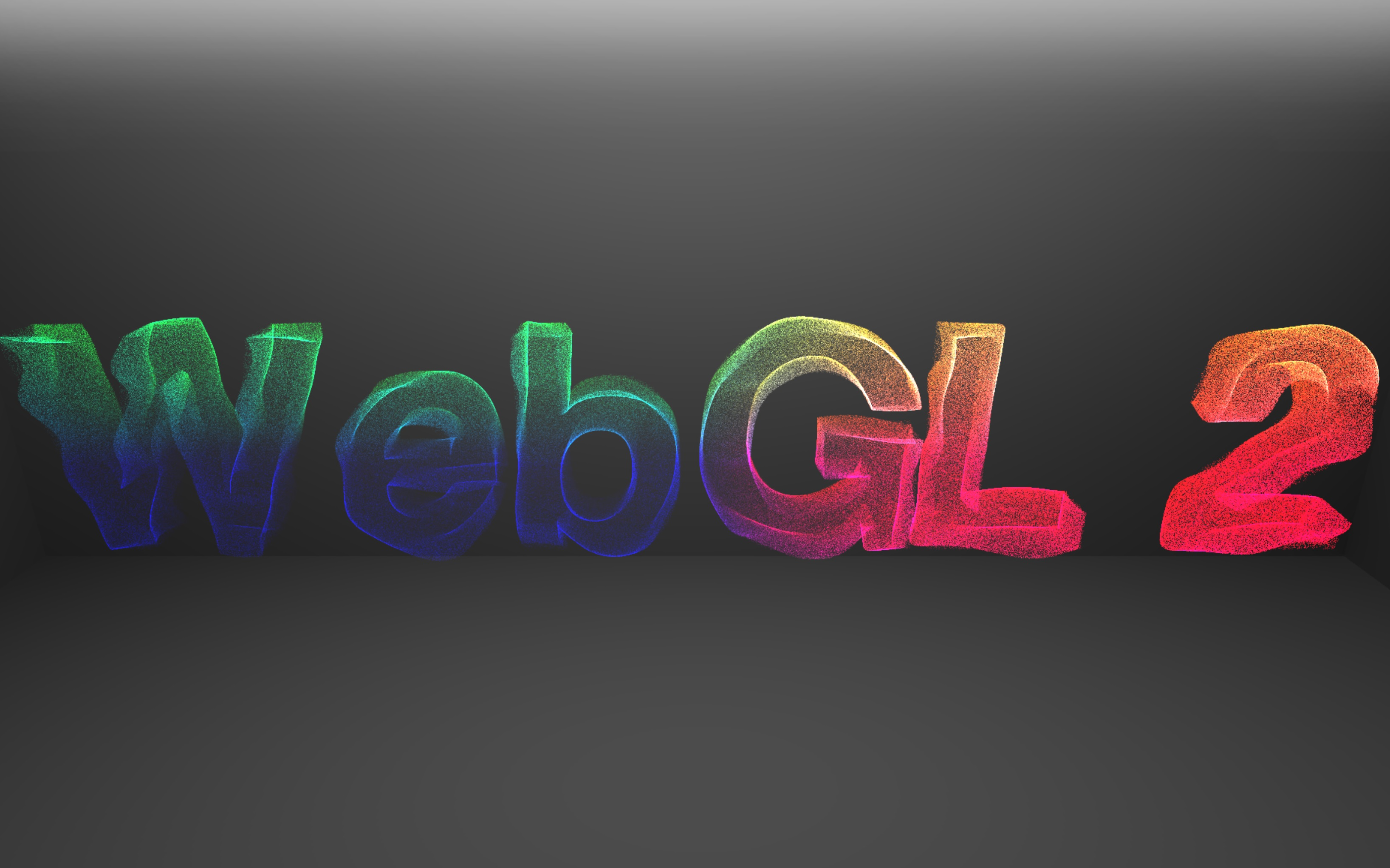 WebGL 2 demo: particle text | Ambient Impact