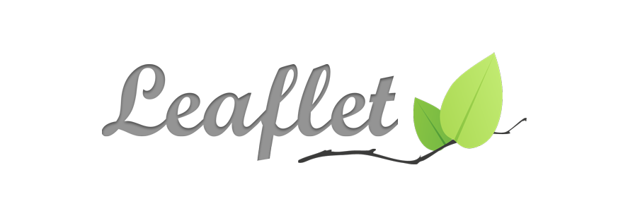 "A stylized ""Leaflet"" with a branch and green leaves to the side."