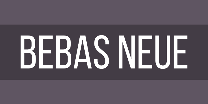 "The text ""Bebas Neue"" in the titular font face."
