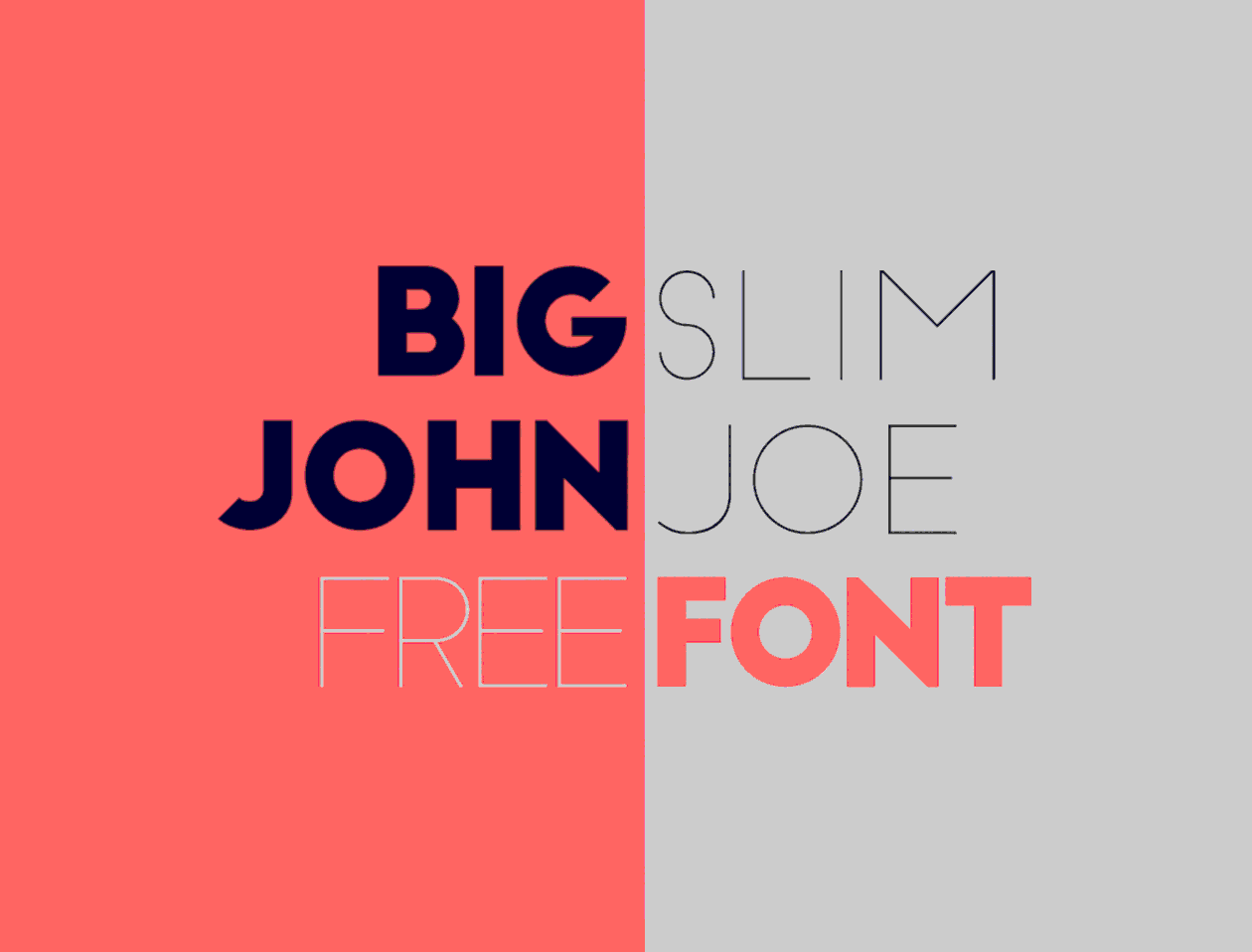 A preview of the Big John & Slim Joe font faces.