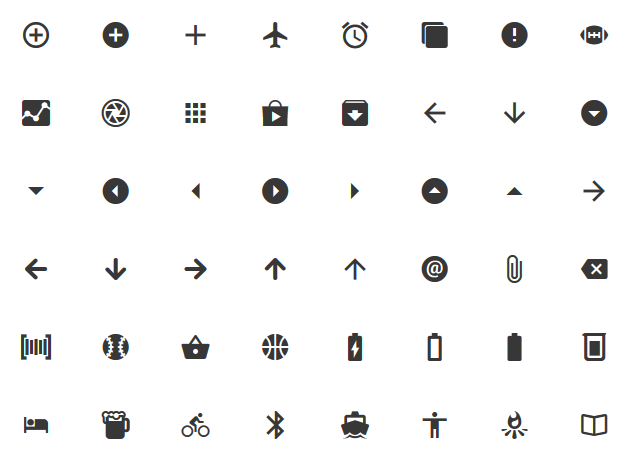 A grid of icons.