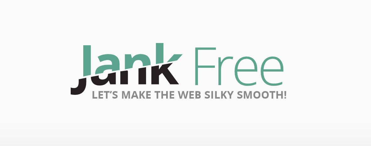 The Jank Free stylized title.
