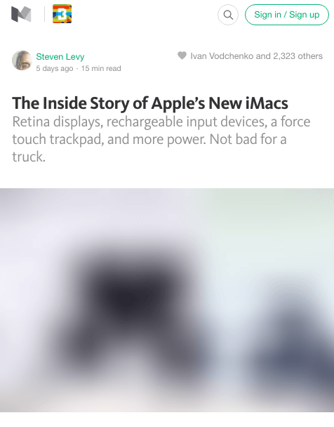 A screenshot of a Medium article, with the header image still loading, shown as a very blurry placeholder.