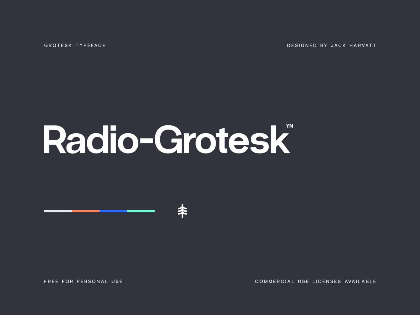 A preview of the Radio-Grotesk font face.