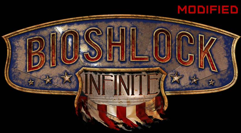 "BioShock Infinite logo, reworded to spell ""BioShlock Infinite"""